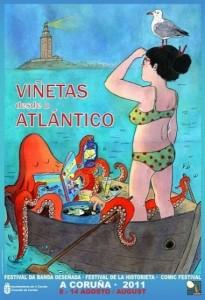 Cartel de Viñetas desde o Atlántico 2011