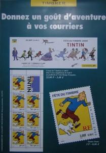 Fête du timbre del año 2000. Tamaño: 30 x 40 cms.