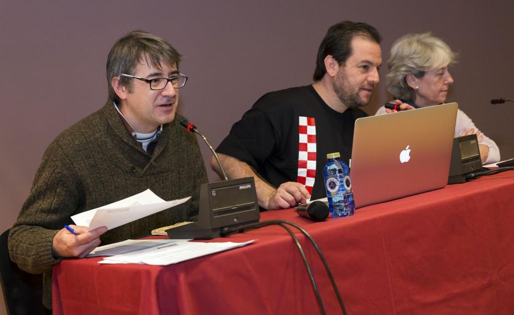 José Luis Povo, Fernando Rodríguez y Paloma Pérez. Foto de Jesús Caso