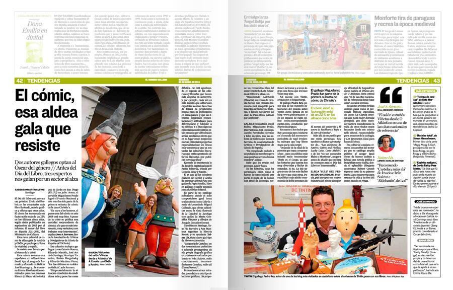 Doble página de El Correo Gallego