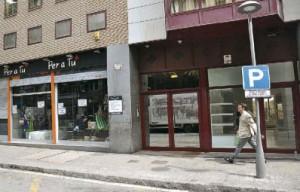 Foto del local donde estará ubicada la tienda