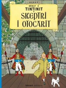 Portada del libro en albanés