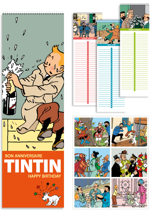 Calendarios 2015. ©Hergé - Moulinsart