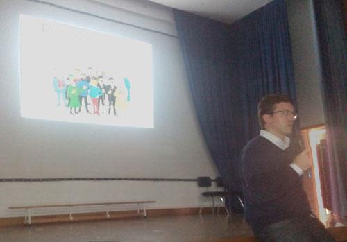 Momento de la charla