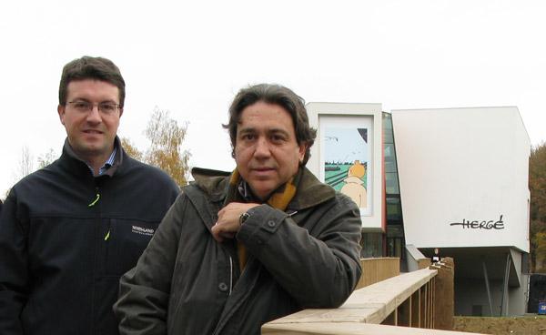 Jordi Tardà y yo en el Museo Hergé