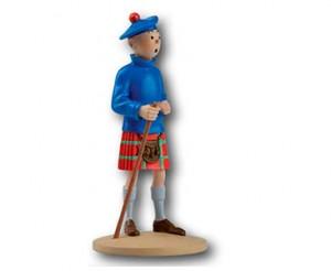Figura de Tintín vestido de escocés. @ Hergé / Moulinsart