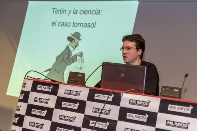Empezando mi disertación. Foto: Jesús Caso.
