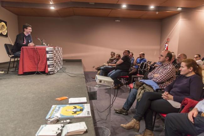 Momento de mi charla. Foto: Jesús Caso.