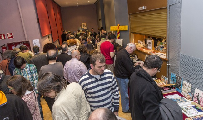 Momentos de la visita a la exposición. Foto: Jesús Caso.