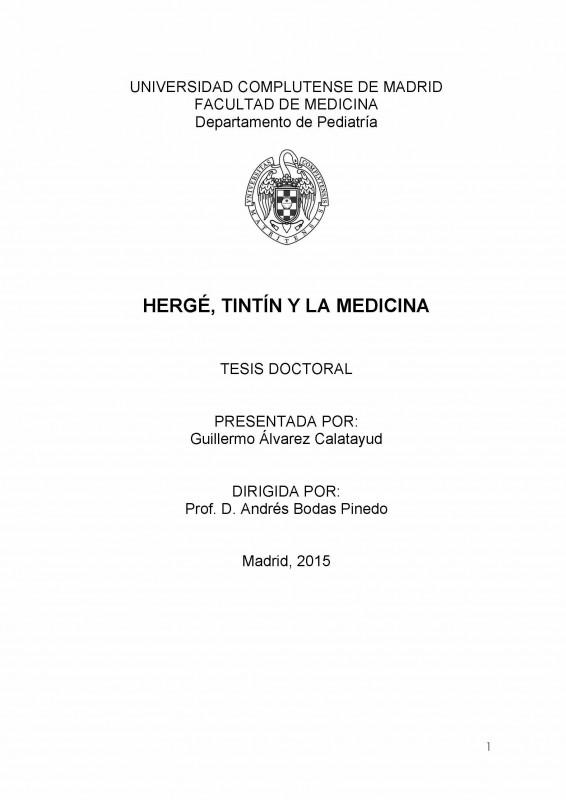 Portada de la tesis de Guillermo Álvarez