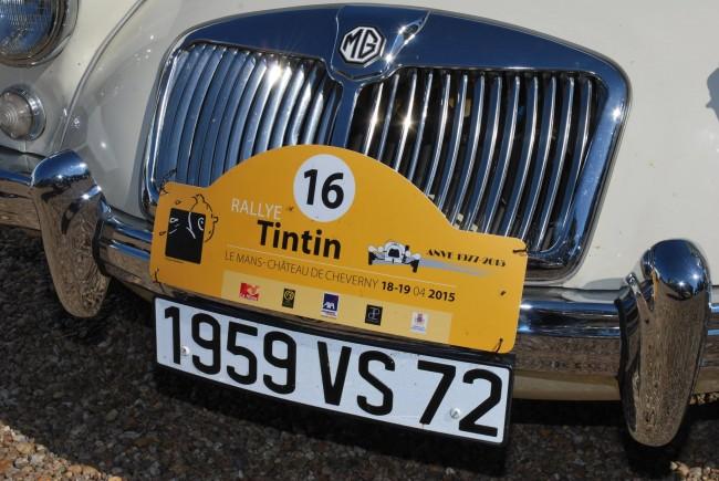 Detalle de un coche preparado para el Rally