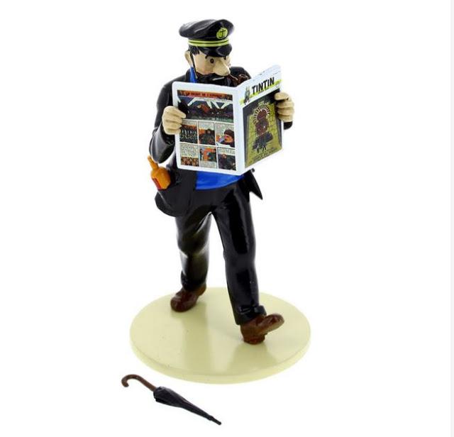 Figura de plomo del Capitán Haddock