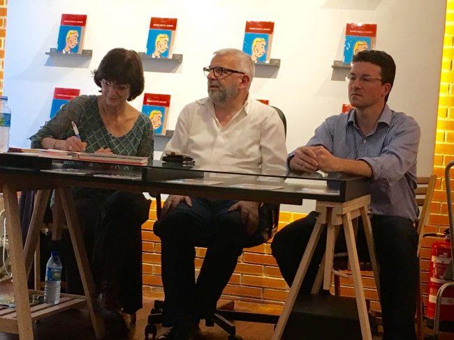 Ana Zendrera, Dominique Maricq y yo durante la presentación
