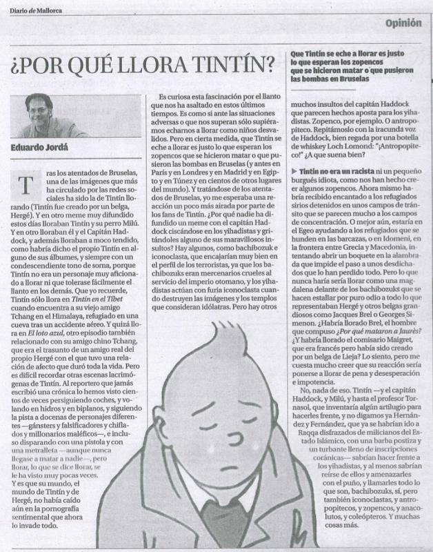 Artículo del Diario de Mallorca