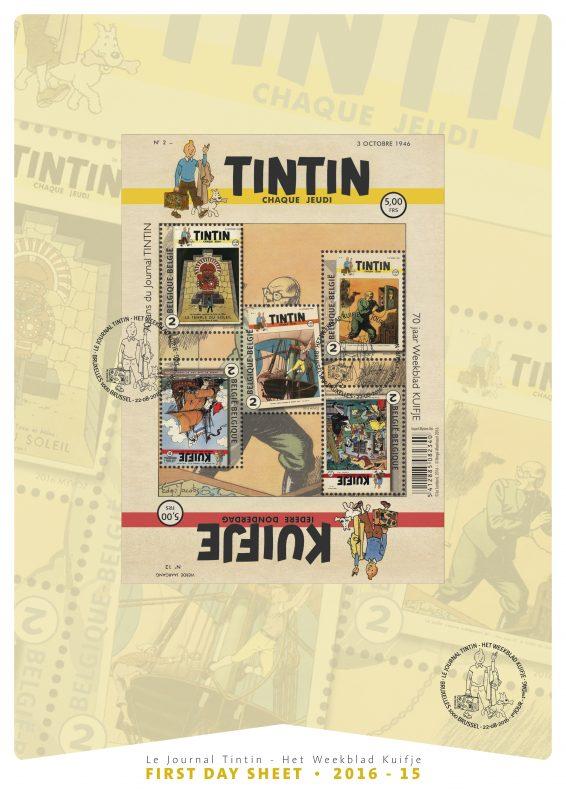 FDS de los sellos del Journal Tintin
