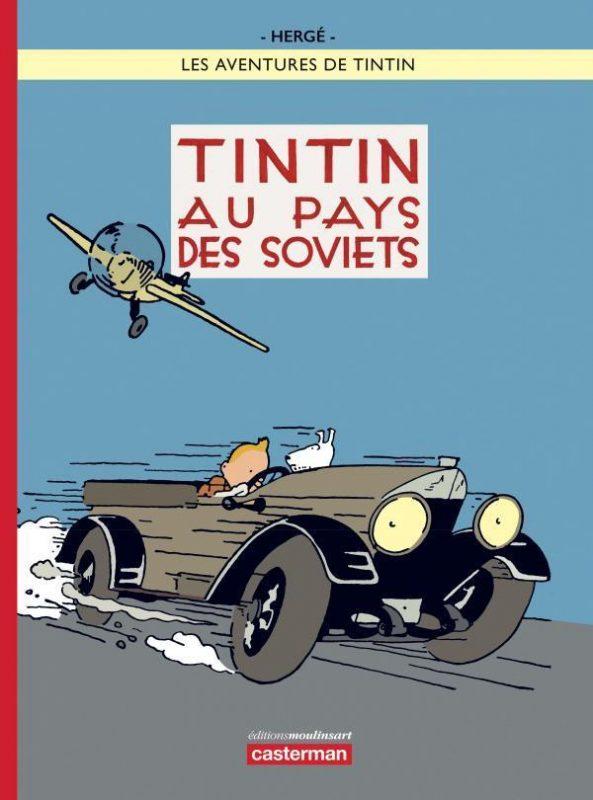 Portada en color de Tintín en el país de los Soviets