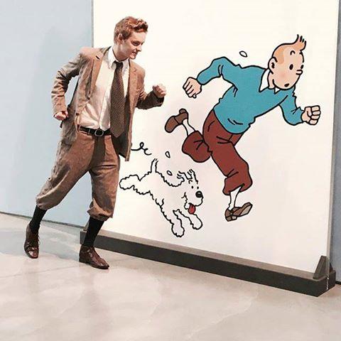 Tintín en el Museo Hergé. © Moulinsart 2017