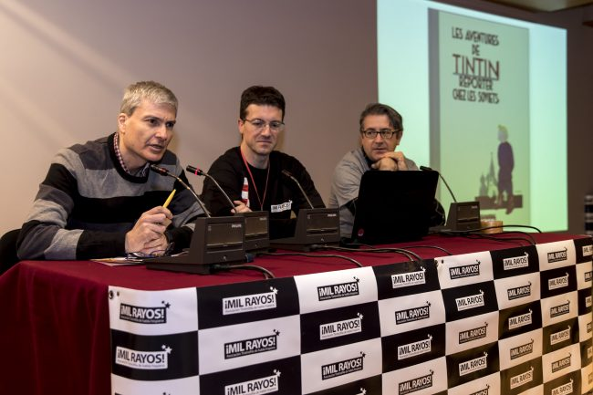 David Baker, yo y José Luis Povo