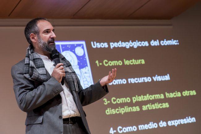 Jordi Ojeda durante su charla