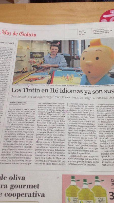 Contraportada de La Voz de Galicia