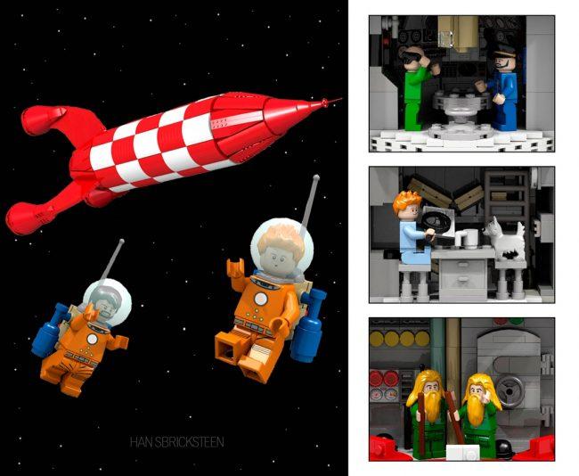 Set de LEGO con Tintín