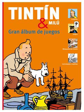 Portada de El Gran álbum de juegos de Tintín y Milú.
