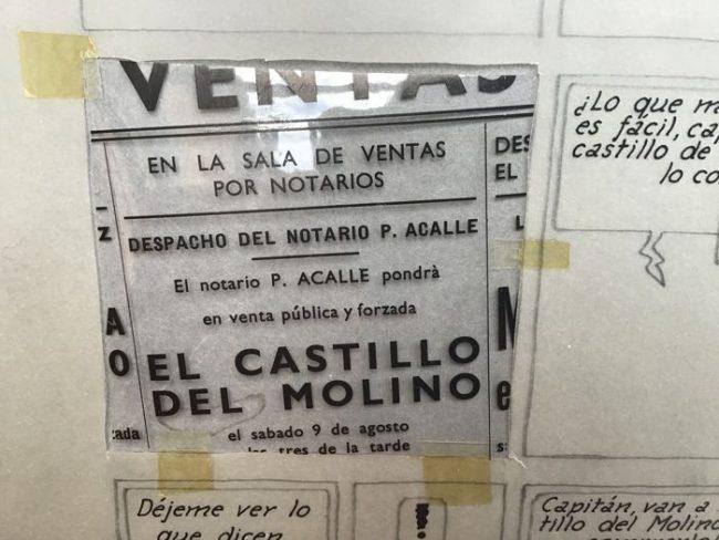 """Detalle de la venta del """"Castillo del Molino"""""""