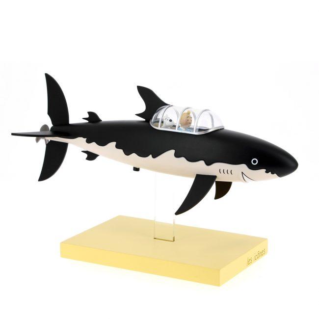 Figura del submarino-tiburón. © Hergé / Moulinsart 2018