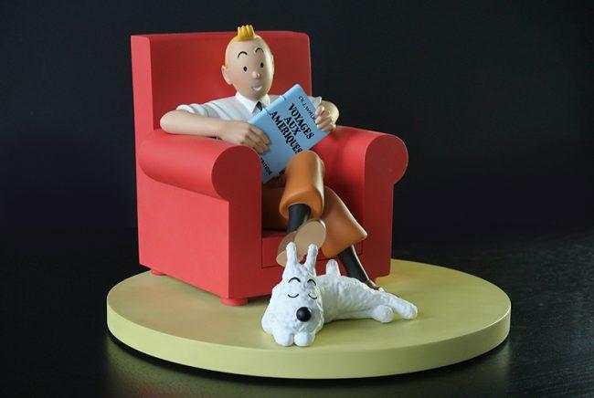 Figura Tintin at home. © Hergé / Moulinsart 2018
