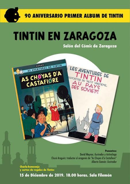 Charla sobre Tintín en Zaragoza