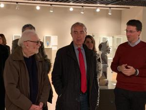 Eduardo Martínez de Pisón, Luis Alberto de Cuenca y yo.